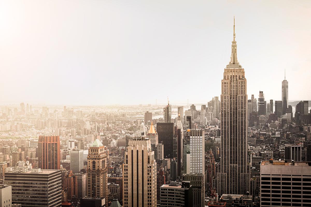 Manhattan Bathed in Morning